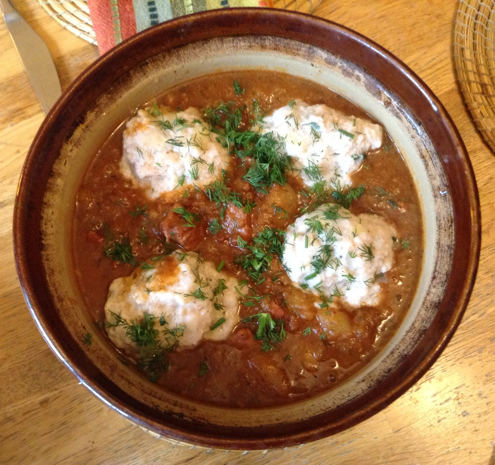 Beef Goulash With Dumplings Recipe — Dishmaps