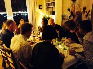 Group at 7 Dec supper club