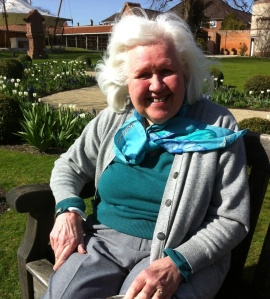 My mother in Walsingham, spring 2012