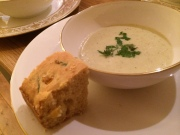 Apple and fennel soup with corn bread 4 Jan 2014