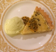 Lime and granadilla tart 4 Jan 2014