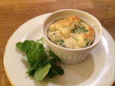 Spinach and watercress souffles 1 Feb 2014