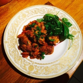 Toulouse cassoulet on plate
