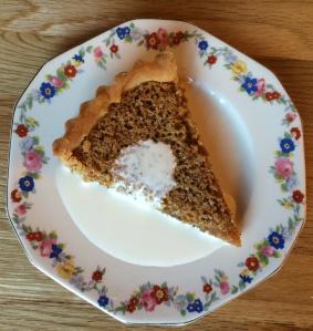 Treacle tart on plate