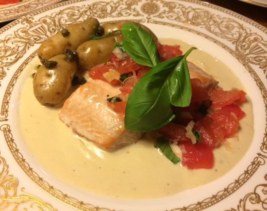 Salmon plated up 2
